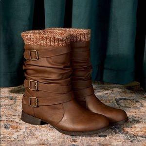 NWOT Nafise Sweater Cuff Boot